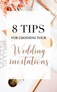 Wedding invitations might be as important for your weddingas the wedding dress. The invites make the first statement of your big day and give your guests a peek intowhat the day will look like, so you will want them to give the best first impression. Bu