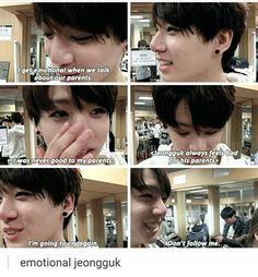what makes me even Sadder thinking about the story behind begin of jungkook crying because he only feels hardship when his hyungs are sad is the fact he left home at 14 and moved to Seoul on his own and was basically brought up through puberty, the most impressionable years of his life, by the rest of bangtan. and how many times jungkook has mentioned he doesn't keep in contact with any of his friends anymore. like, bangtan are his closest friends, they're like family to him, and to see…