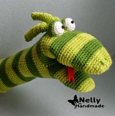 Snake. Toy-mitten. Description