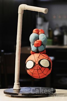 Hanging Spider-Man cake - cake by Cakes! by Ying
