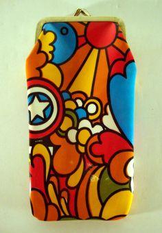 Groovy Retro Pop Art Sunglasses Case