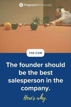 The founder should be the best salesperson in the company. Leadership Development, Leadership Quotes, Start Up Business, Business Tips, Startup Office, 4g Wireless, Challenge S, Co Founder, Dream Team