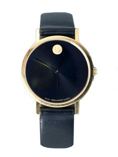 vintage movado leather watch