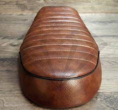 Paragon Moto Leather Look Cafe Racer Flat Brat Seats. Fits Honda Yamaha Suzuki and more
