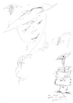 DARTGR0715045 #Face #Black #love #Minimal #DanielaDallavalle #Grafismi #person #lui #lei #loveistheanswer #ink #sketches #art