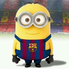 Minions on Nou Camp, El Barca.