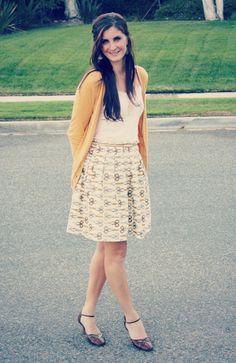 Pleated Skirt Tutorial {Skirts}