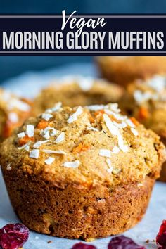 This Morning Glory Muffins Recipe is the best easy, healthy, and quick breakfast of brunch! Filled with carrots, cranberries, apples, applesauce and nuts you will love this clean eating favorite perfect for kids and adults! Morning Glory Muffins, Healthy Breakfast Muffins, Breakfast Recipes, Brunch Recipes, Drink Recipes, Breakfast Ideas, Snack Recipes, Muffin Recipes, Freezer Recipes
