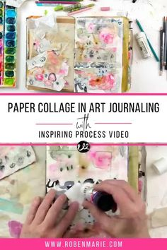 In this video, Roben-Marie Smith is sharing a flip through of the first ten days of The 100 Day Project and answers questions she has received about the art papers she has created. She is also taking one art paper and using it to create an art journal page in her Salvaged Journal. Come along and be inspired!! Art Journal Pages, Junk Journal, Art Journaling, Paper Art, Paper Collages, Tea Bag Art, Art Journal Techniques, Encaustic Art, Process Art
