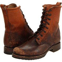 Frye - Veronica Combat [seriously cool boots, what i would wear to the zombie apocalypse... or a meeting at the construction site ~ksd]