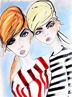 Female fashion illustration by Lucia Emanuela Curzi