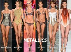 2013 Swimwear Trends - Brazil Summer - Metallics