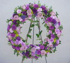 funeral wreaths | Funeral Wreath featuring Florigene Carnations