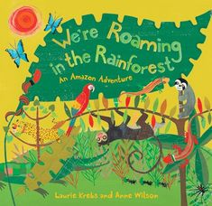 On Sale in June! We're Roaming in the Rainforest Three children embark on a day-long trek through the rainforest, discovering all sorts of exotic creatures in their natural habitats. The charming, rhyming text highlights an adjective for each creature. The story is complemented by educational endnotes about the creatures in the story, and the peoples of the rainforest. www.wereadbarefoot.com