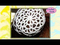 Lace Snood Crochet Hair Accessory - Thread Bun Cover - YouTube
