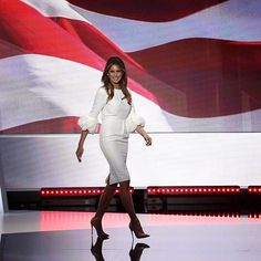 Melania Trump stepped on the stage at the RNC Convention last night in Cleveland and I immediately wanted to know the who, what and where on the dress. Apparently so did a lot of others.  @roksandailincic that's the name to know.  Roksanda Ilincic, the #london based Serbian #luxury fashion designer, debuting at 2005's London Fashion Week with just 11 elegantly structured, feminine cocktail dresses is now the name to know across the pond as well.  Rumor has it the e-commerce luxury site…