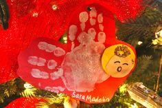 handprint angel ornament