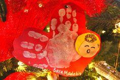 handprint angel ornament