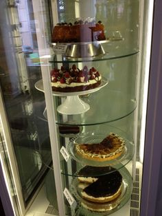The Cake display at our tearoom in Viktoriagade!
