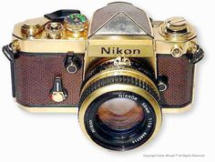 Gold Plated Nikon FM. (When I'm rich enough to get some Bling.)