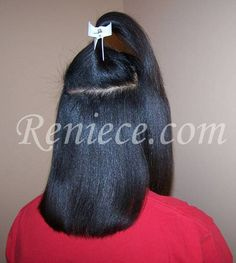 hair growth with relaxer | Oct 05: Freshly relaxed, lightly flat-ironed hair