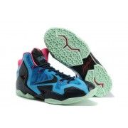 Cheap Lebron 11 Blue Pink Black Shoes $107.90  http://www.blackonshoes.com