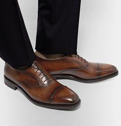 Berluti - Roccia Leather Oxford Shoes
