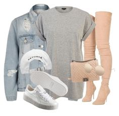 Untitled #3590 by xirix on Polyvore featuring polyvore fashion style River Island Balmain Puma Chanel Linda Farrow clothing