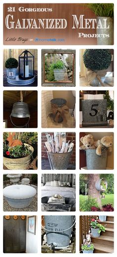 21 Gorgeous {Galvanized Metal} Projects! | curated by 'Little Brags' blog!
