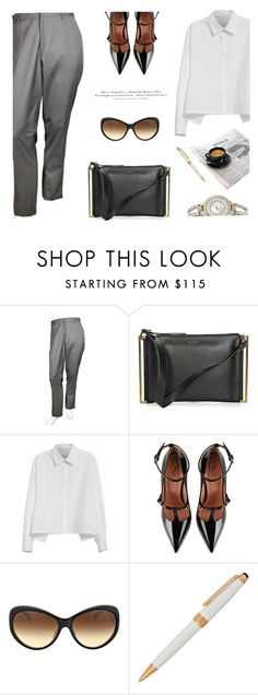 """""""Office Look"""" by jomashop ❤ liked on Polyvore featuring Y's by Yohji Yamamoto, RED Valentino, H&M, Anne Klein and WorkWear"""