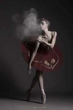 love this blow of smoke/ dust. dark ballerina.