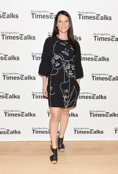Pin for Later: Katie Holmes Isn't Alone in Looking Like She's Walking Down the Aisle Lucy Liu Lucy Liu in Stella McCartney at TimesTalks Presents: an Evening With Lucy Liu, Maggie Gyllenhaal and Mira Sorvino.