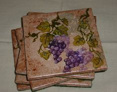 Grape Coasters - Rubber Stamping (Stampin' Up!) - How To | Faire Notions
