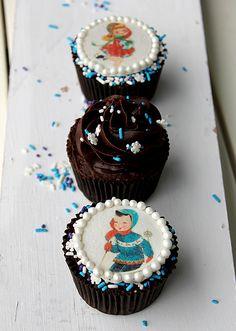 Vintage Winter Cupcakes | Cupcakerecepten.nl