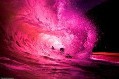 pink, pretty, wave