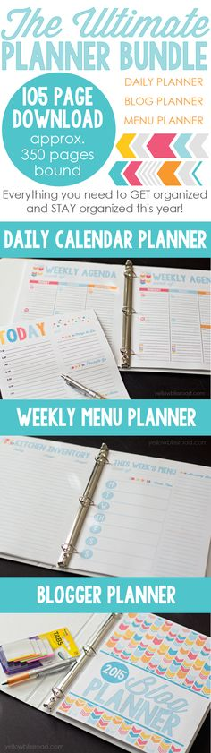 The Ultimate Planner Bundle for Busy Moms, Busy Cooks, and Busy Bloggers!