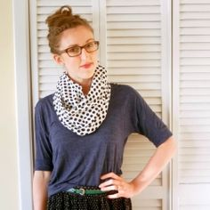 Sewing 101 - Learn to sew a a quick, easy infinity scarf for fall.