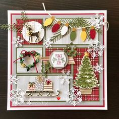 the crafty yogi: Stampin' Up! Display Stamper Post the crafty yogi: Stampin' Up! Christmas Shadow Boxes, 3d Christmas, Christmas Paper Crafts, Christmas Frames, Christmas Projects, Handmade Christmas, Holiday Crafts, Stampin Up Christmas 2018, Christmas Layout