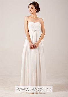 """Elegant Sweetheart Empire Flowing Wedding Dress with Beadings $158.98"""