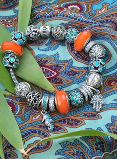 Tendance Bracelets  Mix patterns and add bright colors for a bohemian look. #PANDORA #PANDORAbracele