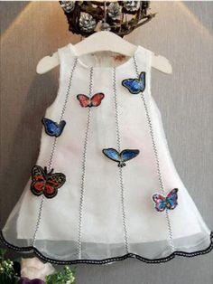 butterfly dress for little girl , princess girl dress #kidsfashion Cute Flower Girl Dresses, Little Girl Dresses, Cute Dresses, Girls Dresses, Summer Dresses, Bow Dresses, Infant Dresses, Cotton Dresses, Korean Children
