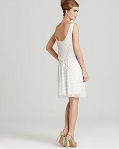 Alice + Olivia Gisel Silk Beaded Stripe Dress - love the low back!