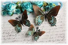 Resultado de imagen para butterfly mixed media