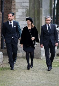 Norwegian Crown Prince Haakon (L), his sister Princess Martha Louise and her husband Ari Behn arrive at the Old Church in Delft, The Netherlands, for the memorial of Prince Friso, 02 .11.13.