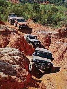 jeeps on trail