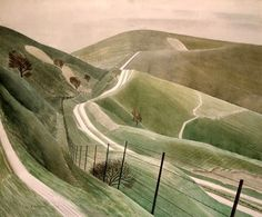 """Chalk Paths,"" Eric Ravilious (1903-1942)"