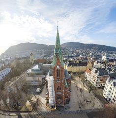 St. John's Church from a drone
