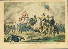 Historic Print of The Battle of New Orleans   #History #Museum