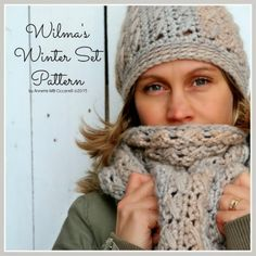 #crochet hat and scarf pattern set form My Rose Valley