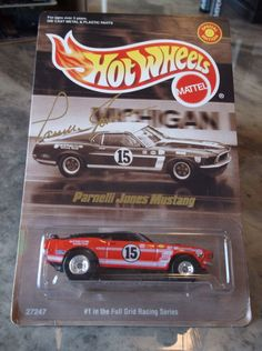 HOT WHEELS  LIMITED EDITION PARNELLI JONES MUSTANG #HotWheels Custom Hot Wheels, Hot Wheels Cars, Parnelli Jones, Matchbox Cars, Ford Mustang, Diecast, Collectible Cars, Mustangs, Scale